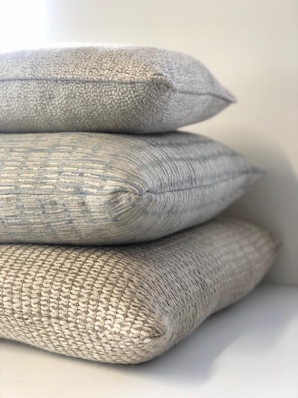 custom made designer cushions made with james dunlop mokum fabrics