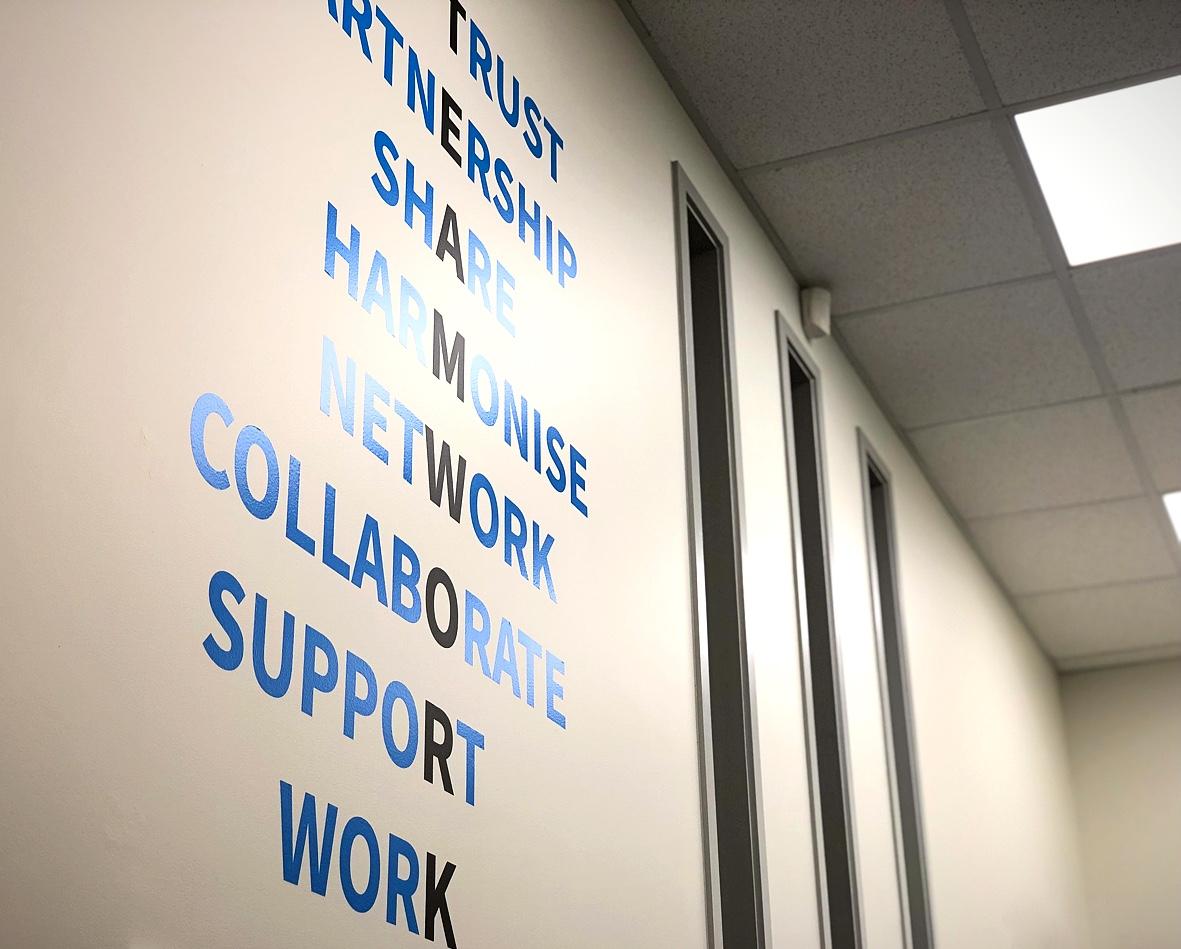 modern office motivational wall decal