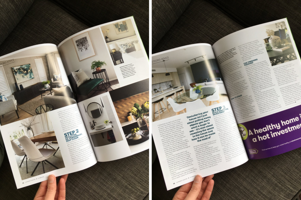property investor magazine article on how to prepare your home for sale