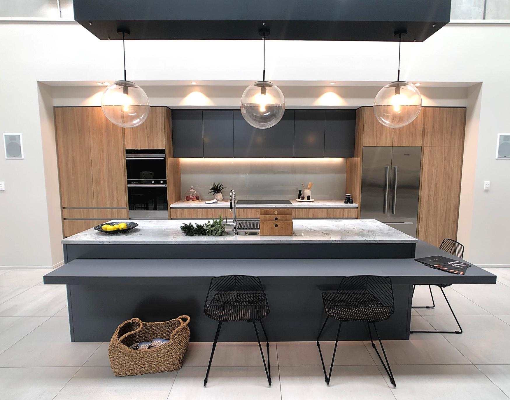 modern kitchen with island bench