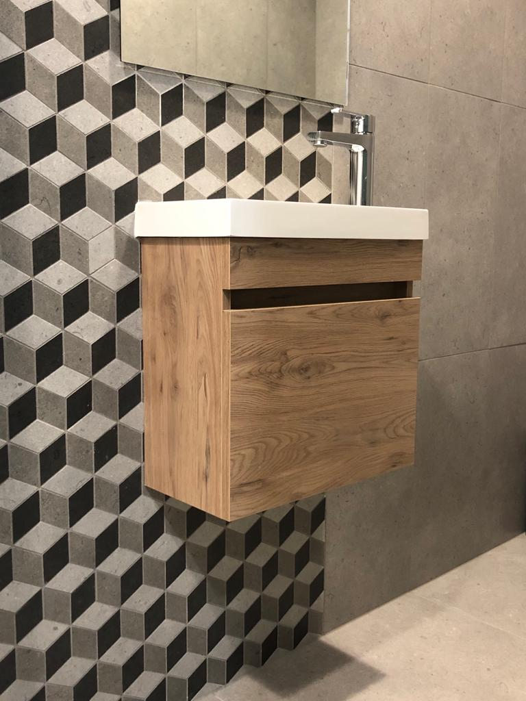 tissue holder on patterned wall