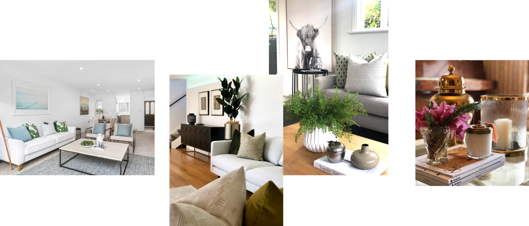 home staging for sale modern dining and living room styling