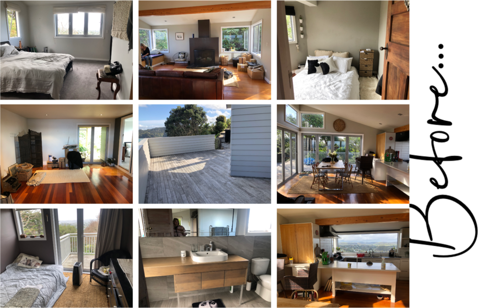 before and after waiheke luxury real estate home interior design with ocean views