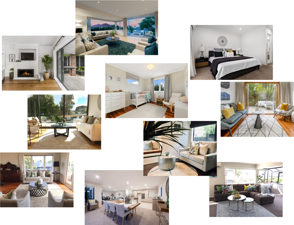 best auckland home staging modern contemporary colourful home styling bedrooms and lounges with designer accessories