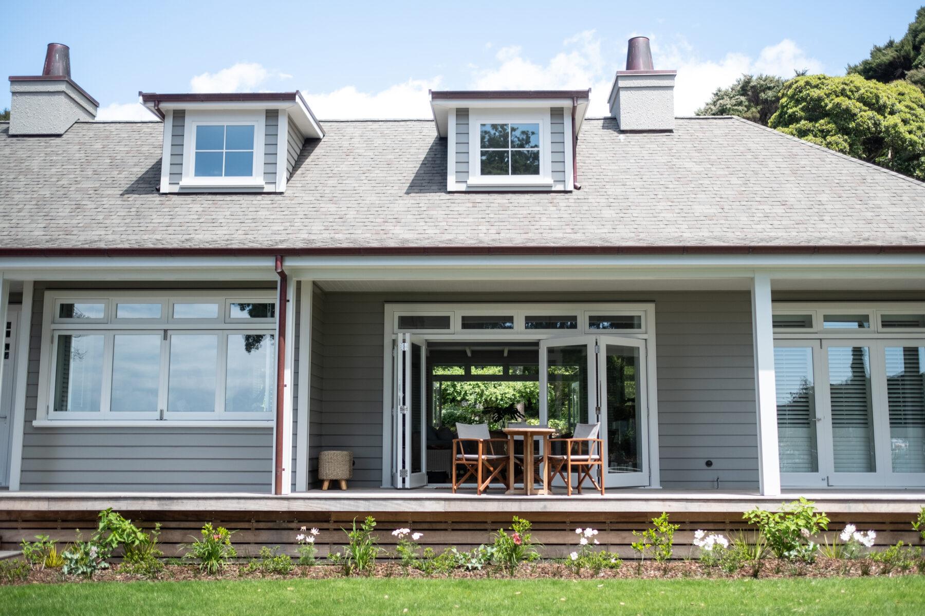 modern hamptons style house exterior paint colours new zealand