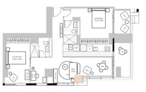basic floorplan apartment layout with measurements